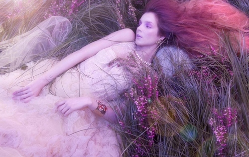 abito, dreamy, dress, lights, mondo di favola, opheliac, pink, purple, tulle