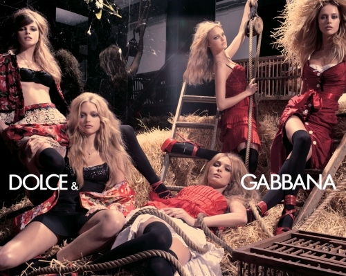 caroline trentini, dolce and gabbana, fashion, gemma ward, girls , jeisa chiminazzo