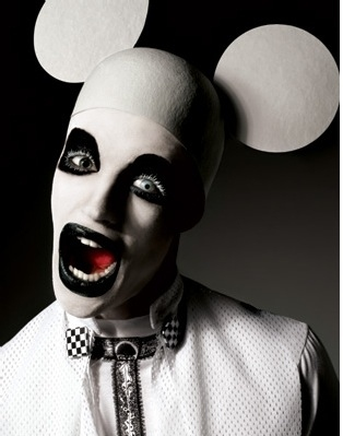 goth, gothic, marilyn manson, mickey mouse, not marilyn manson