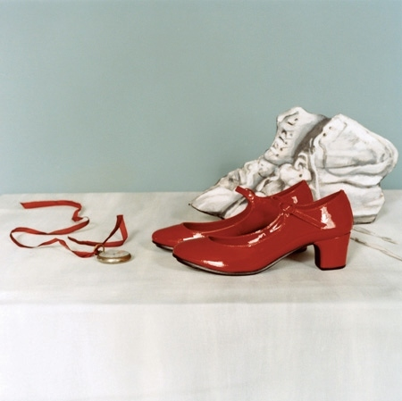 bg:light, fashion, fg:red, mary janes, photography, red, red shoes, white, shoes