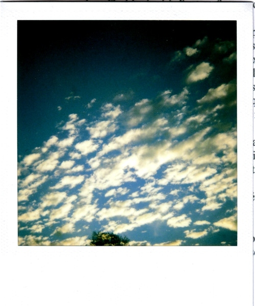 art, cloud, clouds, photography, pola, polaroid, sky