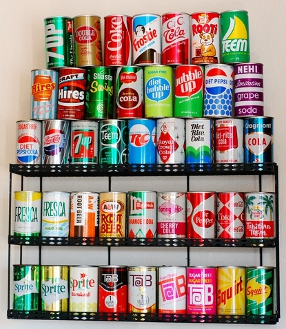 cans, colors, pop, retro, soda, soft drink