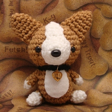 amigurumi, corgi, dog, handcraft cute, knitted, pembroke