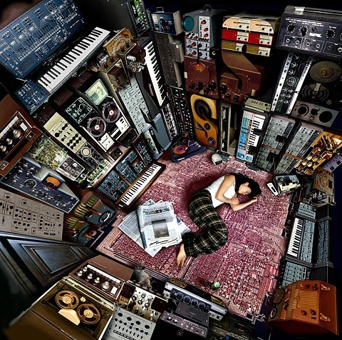 carpet, electronica, girl, keyboard, music, retro