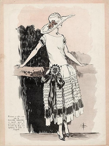 1920s, 1924, classy, fashion, fashion illustration, fashion plate, flapper, illustration