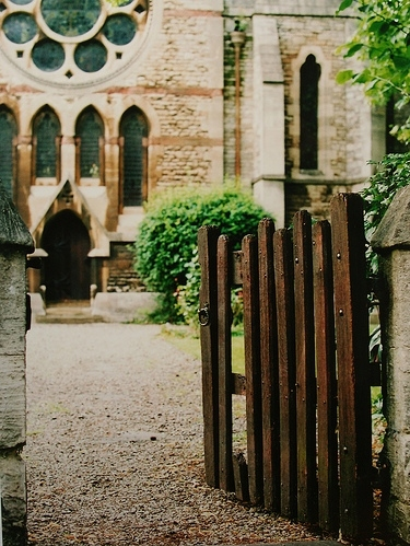 architecture, church, england, fence, gate, oxford