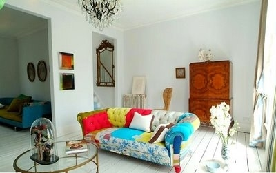 bohemian, decoration, home, living room, sofa