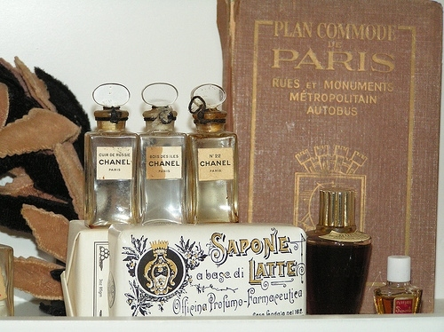 antiques, chanel, french, paris, perfume, vintage