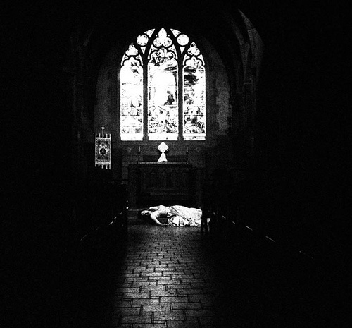 arch, black and white, brick, church, cloisters, dead