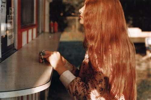 girl, hair, long hair, redhead, retro, sunlight