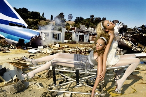 david lachappelle, fashion, heather marks, lachapelle, mcpherson, mess, model, plane, rubik anja, vogue