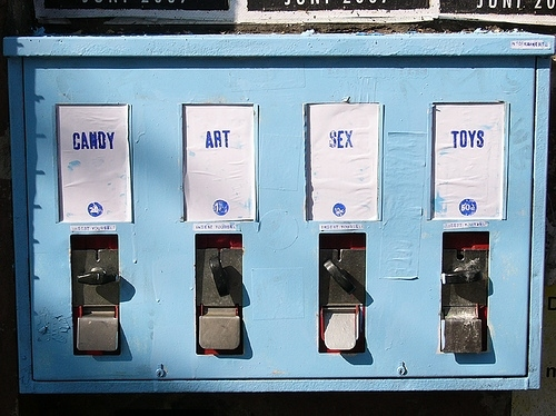 art, candy, sex, toys, vending, vending machine
