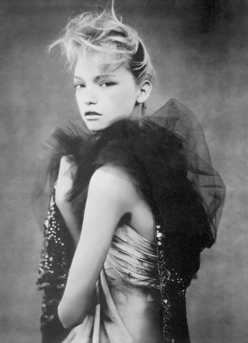 black, black and white, black white, by paolo roversi, dress, fashion, gemma ward, model, pale, soft, thin, white, woman