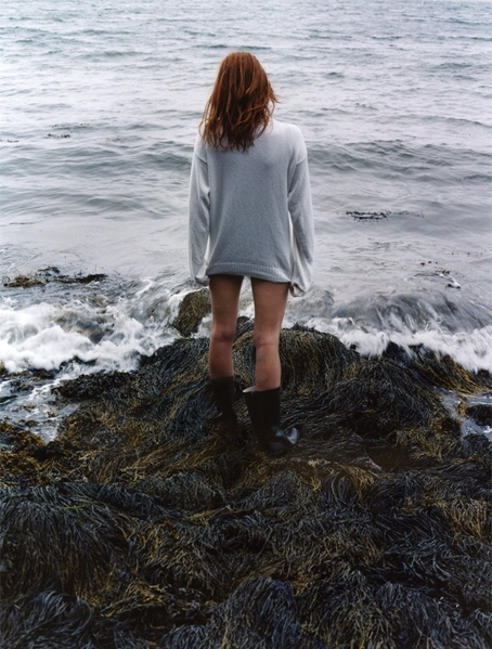 beach, boots, girl, nature, no pants, pantless
