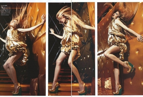 dancing, fashion, girl, gold, hair, high heels, model, movement, nightlife, raquel zimmermann