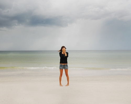 beach, girl, ocean, sand, sea