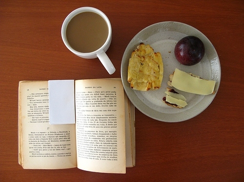 book, breakfast, coffe, food, morning, still life