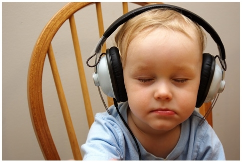 child, eyes closed, headphone, headphones, listening, music