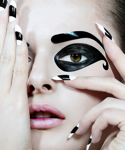 beauty, black, eyebrows, jamie nelson, makeup, pale, pink