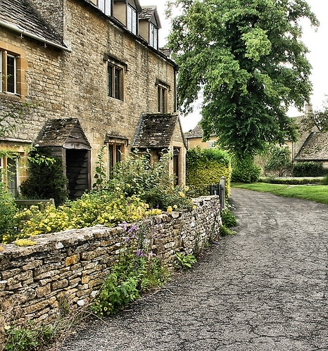 cotswolds, cottage, england, garden, lower slaughter, places