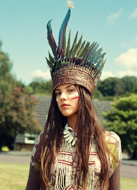 Native American Face Paint Female http://favim.com/image/16719/