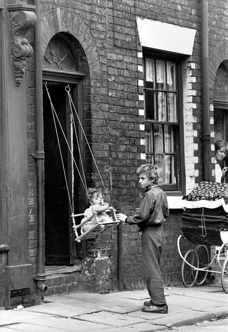 1960s, baby, black and white, boy, children, manchester