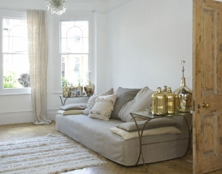 brass, cushions, decor, door, interior design, sofa, white, windows