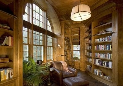 books, brown, dream house, inredning, leather, library