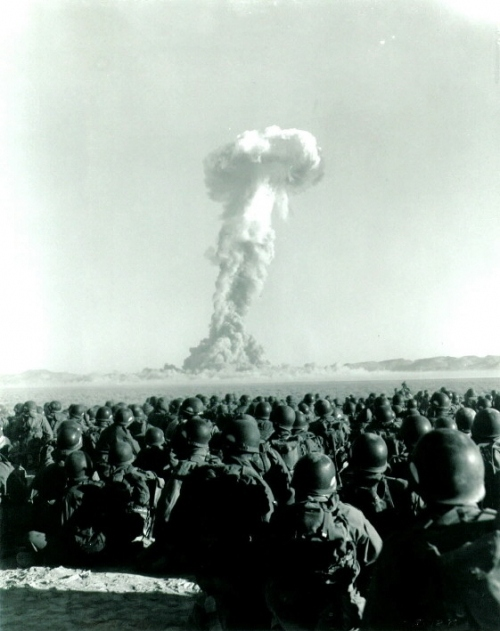 1950s, bomb, documentary, military, nuclear, photo, soldiers, test, war