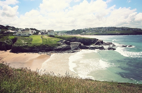 baby bay, beach, clouds, cornwall, cottages, nature