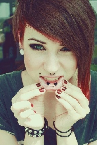 cool hair, earplug, eyelashes, eyes, gauged, gauges