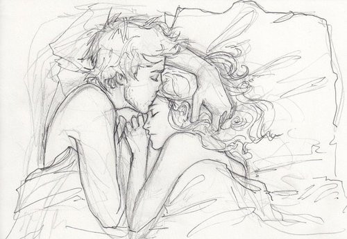 couple, desenhos, drawing, illustration, kiss, love, lovers