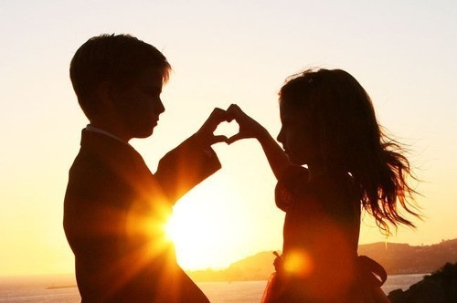 amor, childhood, children, cute, hands, heart