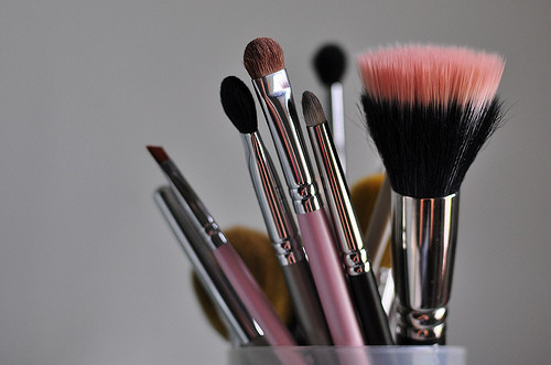 brushes, girly, make up, makeup, muss, schmincke