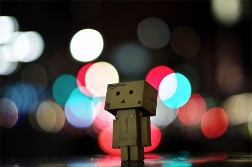 alone, art, brain storm, cardboard, cute, danbo