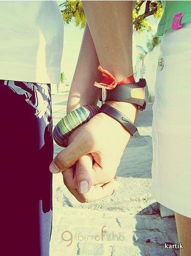 color, friends, friendship, girls, hands, holding hands