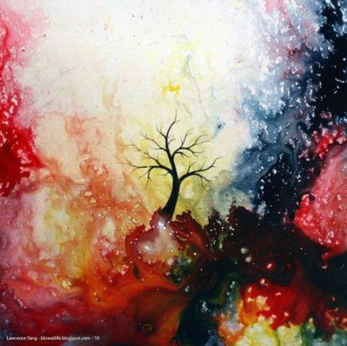 art, beautiful, colour, illustration, tree