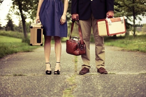 blog, boyfriend, couple, girlfriend, run away, suitcase, suitcases, travel