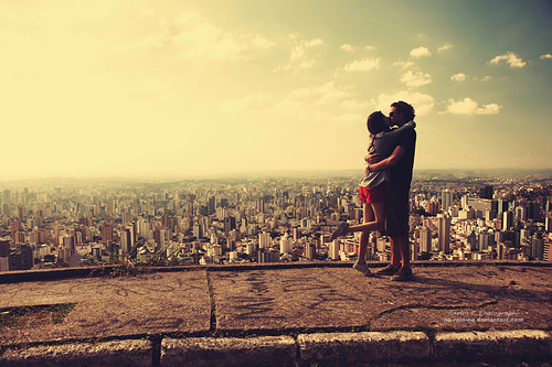 art, beautiful, city, city view, couple, couples, cute, cute couple, freedom, girl, horizon, hug, kiss, love, lovers, nice, photography, pretty, sky, smile, urban, view, First Set on Favim.com
