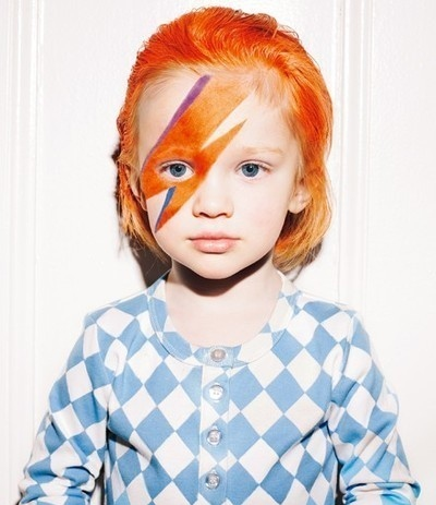 cute, david bowie, girl, kid, music, photography, ziggy