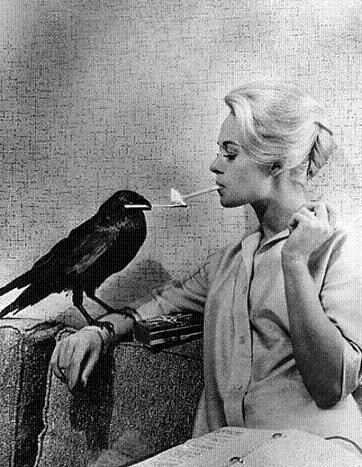 bird, black and white, cigar, glamour, retro, smile