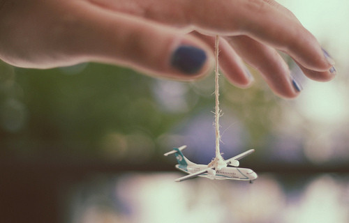 fly togeather, hand, plane, string, travel