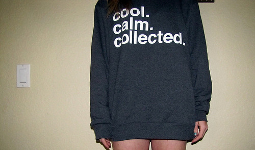 calm collected cool girl hoodie text image 24365