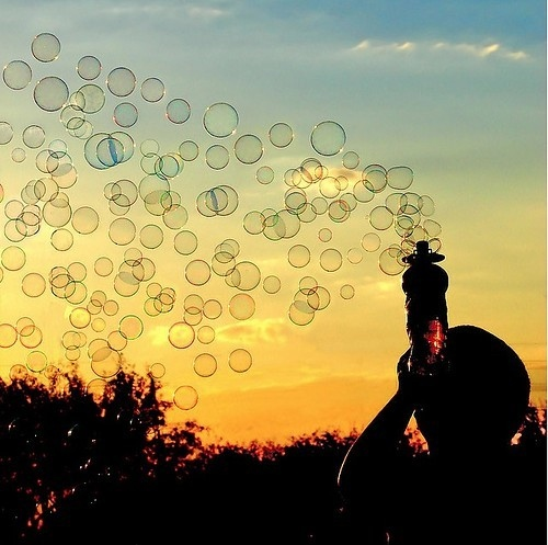 bubbles, child, dreams, happy, ins, nature