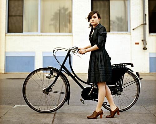 beautiful, bicicleta, bicycle, bike, black, brunette
