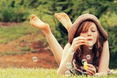 blow, bubbles, cute, free, girl, happiness, outdoors, photography, soap bubbles