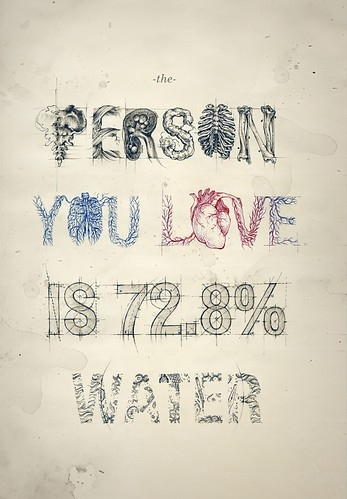 anatomy, body, book, color, design, drawing, drawings, font, graphic, graphic design, grunge, heart, illustration, lekker type, lettering, love, poster, text, type, typo, typography, water