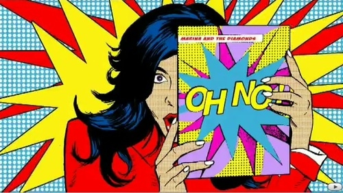 colours, comic, marina and the diamonds, marina diamandis, oh no