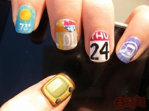 app, apple, apps, appstore, creative, idea, ios, iphone, nail art, nail polish, nails, pattern