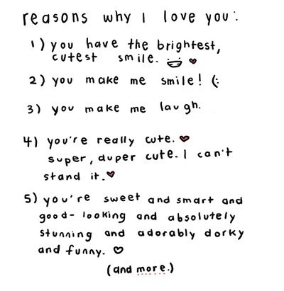 crush, cute, lists, love, love letters, quote